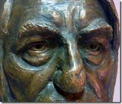 mark closeup bronze